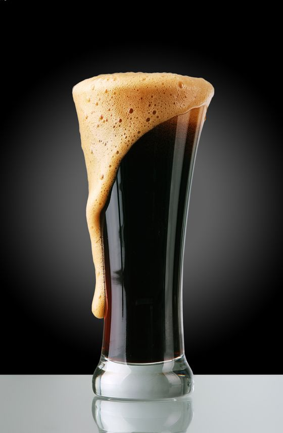 14323188 - glass of dark beer with froth